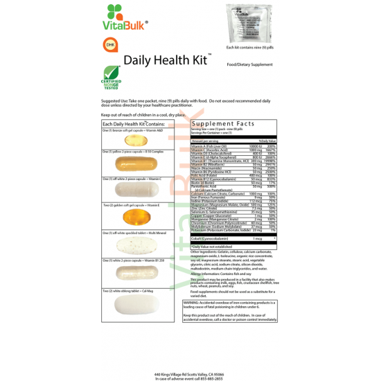 Daily Health Kit (30 counts) Vitalbulk (VitalBulk) by Vitanord.eu