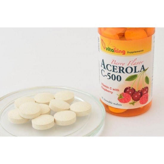 Acerola C500 (40 chewable tablets) (Vitaking) by Vitanord.eu