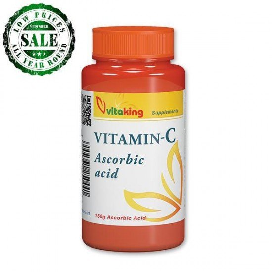 Ascorbic Acid Powder 150g (Vitaking) by Vitanord.eu