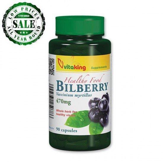 Bilberry 470mg (90 capsules) (Vitaking) by Vitanord.eu