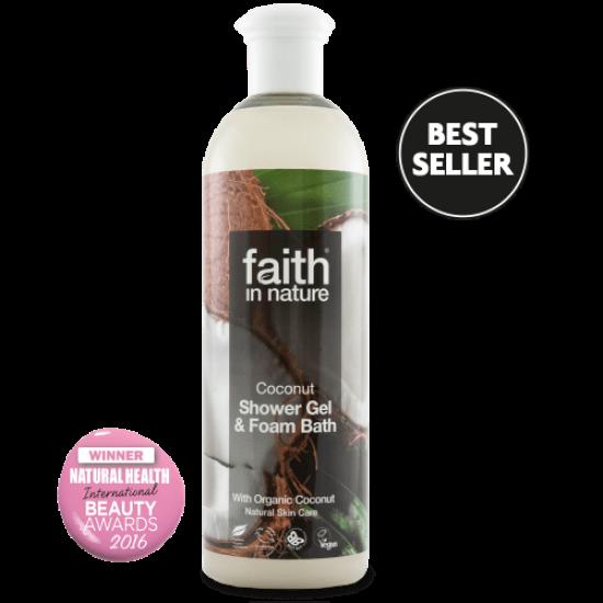 Coconut Shower Gel & Foam Bath (400ml) (Faith In Nature) by Vitanord.eu