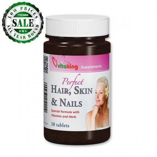 Hair, skin & nails Dietary Supplement (30 tablets) (Vitaking) by Vitanord.eu