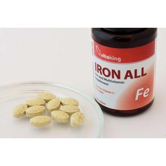 Iron All Plus Liver, Vitamin C and B-complex (100 tablets) (Vitaking) by Vitanord.eu
