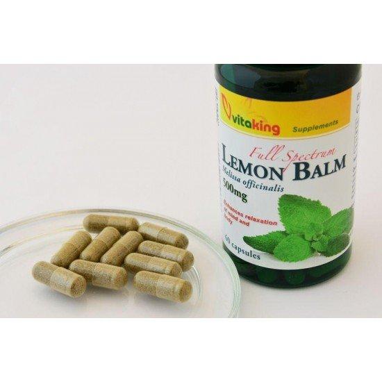 Lemon Balm Extract 500 mg (60 capsules) (Vitaking) by Vitanord.eu