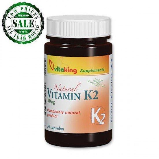 Natural Vitamin K2 (30 capsules) (Vitaking) by Vitanord.eu