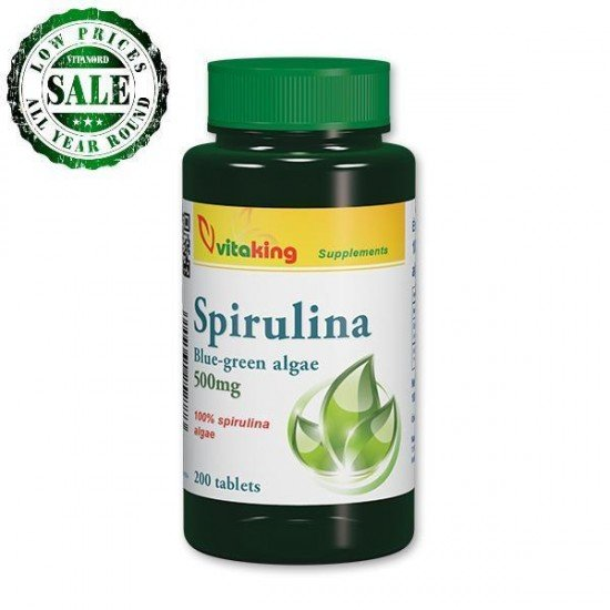 Spirulina Blue-Green Algae (200 tablets) (Vitaking) by Vitanord.eu