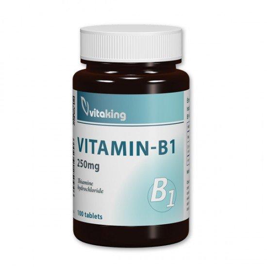 Vitamin B1 250mg (100 tablets) Vitaking (Vitaking) by Vitanord.eu