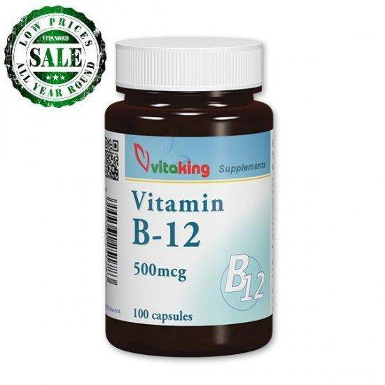 Vitamin B12 - 500 mcg (100 capsules) Vitaking (Vitaking) by Vitanord.eu